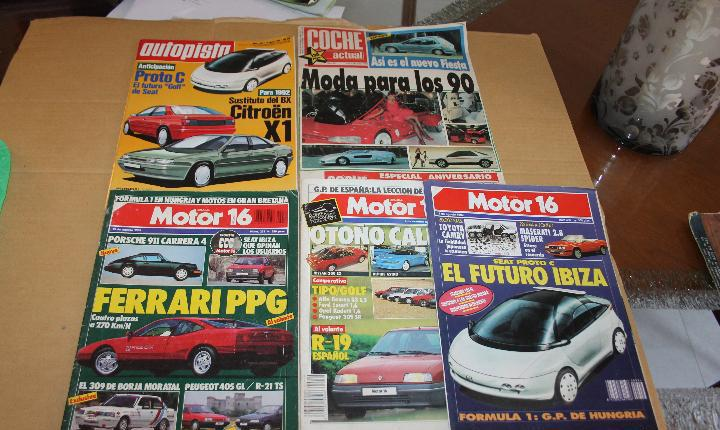 Lote revistas de coches motor 16, autopista y coche actual