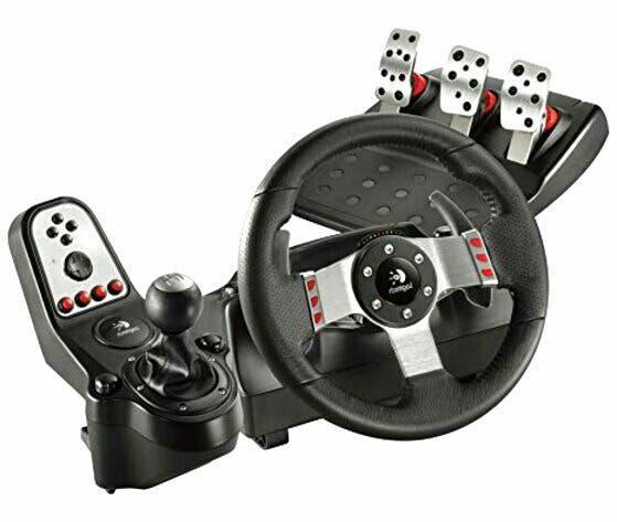 Logitech g27 volante, pedales, cambio y cables
