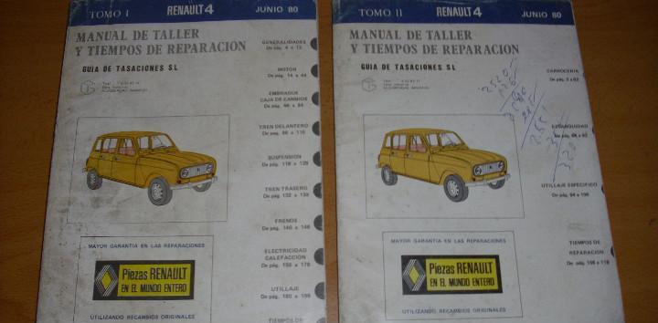 Manual taller guía tasaciones renault 4 2 tomos 1980