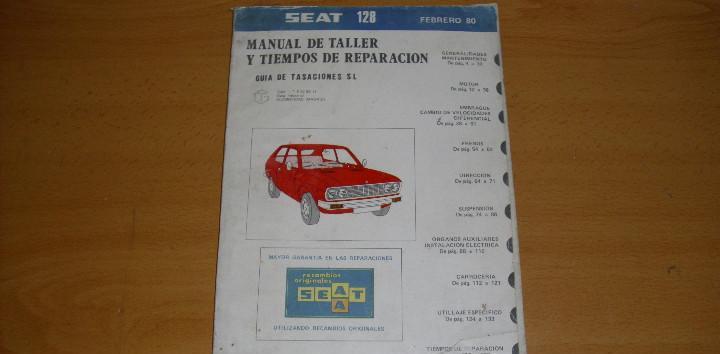 Manual taller guía tasaciones seat 128 1980 reparación