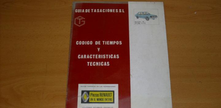 Manual taller guía tasaciones tiempos y características