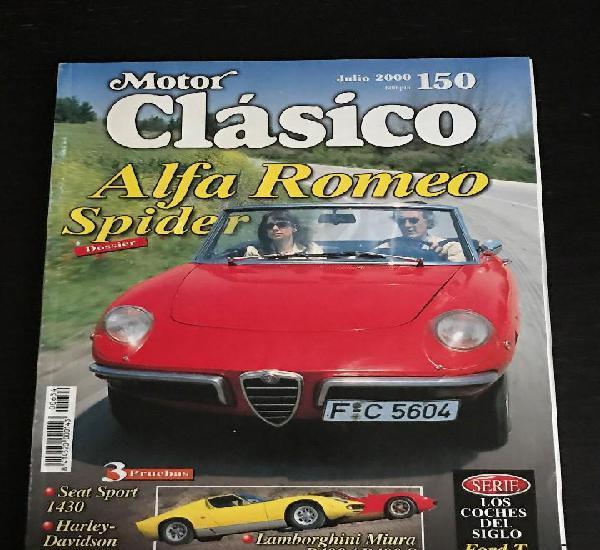 Motor clasico nº 150 - dossier alfa romeo spider / seat