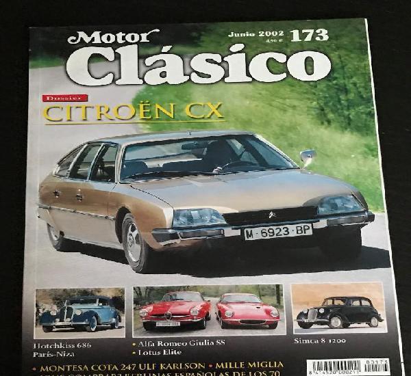 Motor clasico nº 173 - citroen cx / alfa giulia ss / lotus