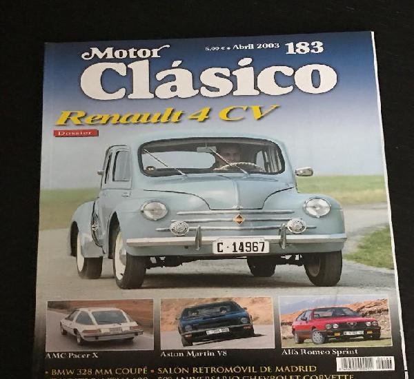 Motor clasico nº 183 - renault 4 cv / alfa sprint / aston