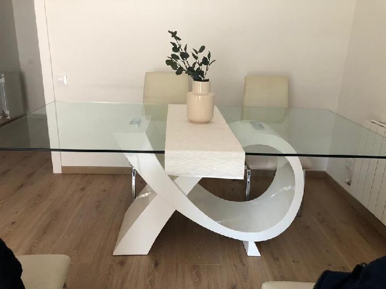 Mesa de cristal comedor