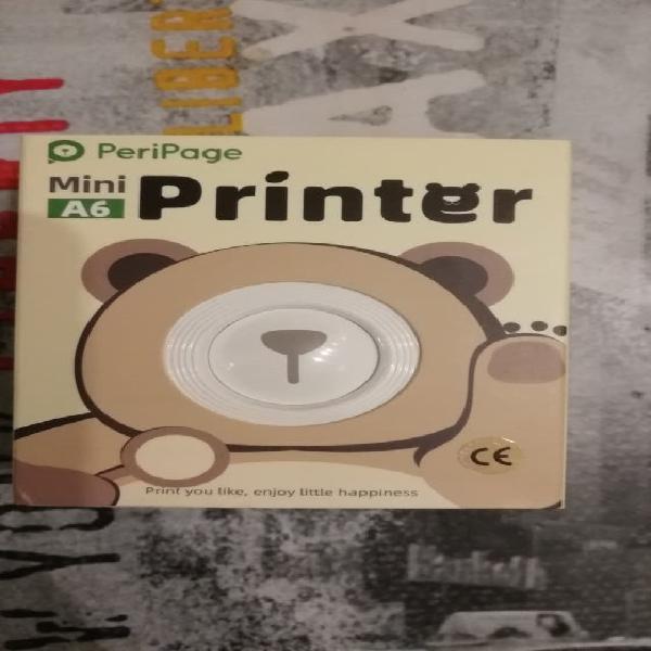 Mini impresora térmica portátil fotos