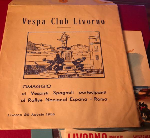Publicidad; sobre original con publicidad de vespa club de