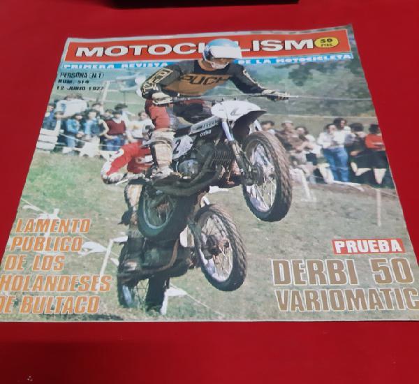 Revista motociclismo número 514 junio 1977