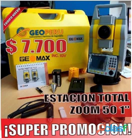 "Estacion total geomax modelo zoom 50 precisión 1"""