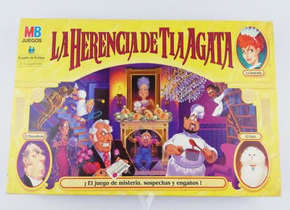 """Juego de mesa """"la herencia de tía agata"""" * mb 1996"""