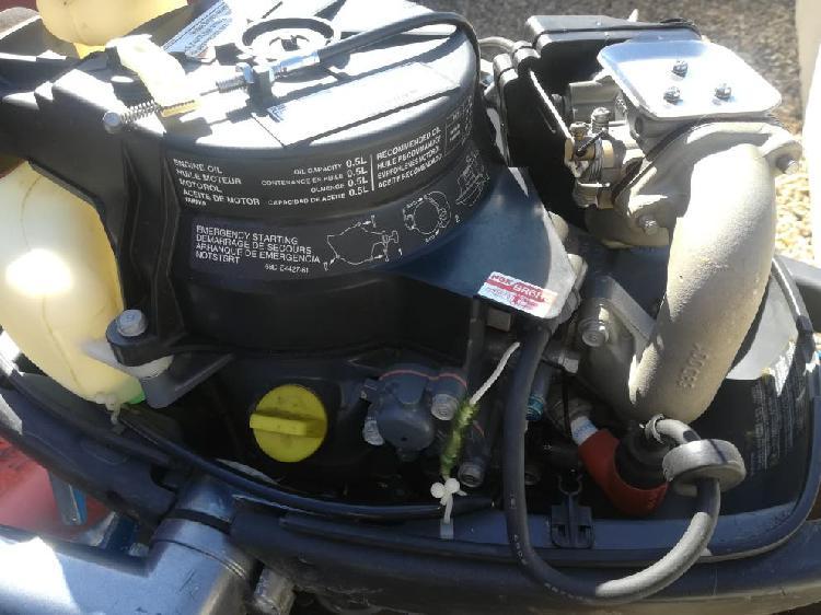 Motor four stroke yamaha 4 cv hp cola larga