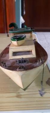 Barco madera de una sola pieza