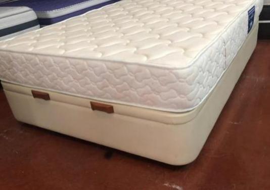 Canape polipiel beige 135x190+colchon aspol visco