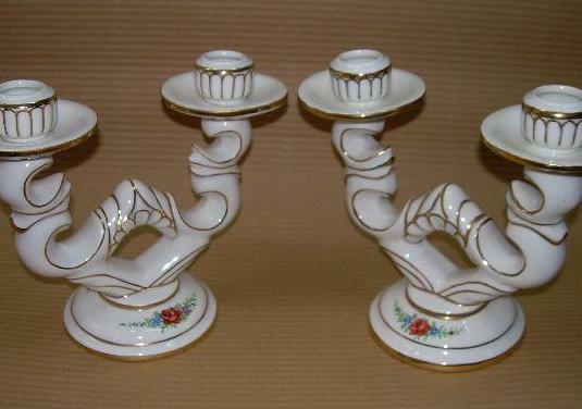 Candelabros de ceramica (pareja)