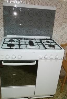 Cocina gas, 5 fuegos y horno