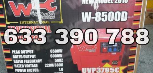Generador de luz 8500w diésel sin estrenar