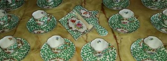 Juego 12 tazas porcelana elios