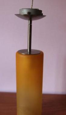 Lampara de techo vintage de cristal naranja