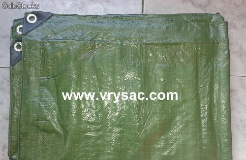 Lona de rafia impermeable verde de 3x4 metros con 120 gr/m2
