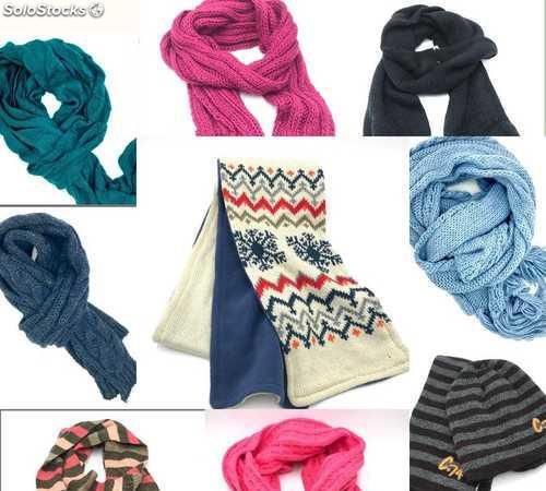 Lote surtido de bufandas