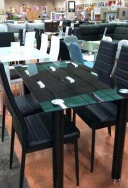 Mesa comedor cristal 120*70cm 4 sillas