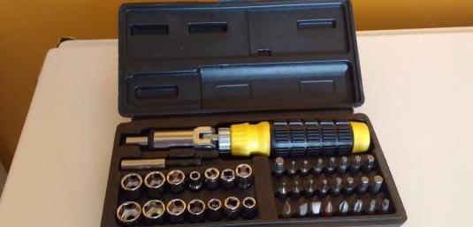 """Fuerza hombre juego de llaves de vaso 94 piezas 1//4/"""" /& 1//2/""""//maletín de herramientas trinquetes"""