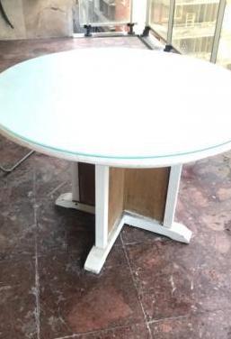 Mesa madera maciza redonda