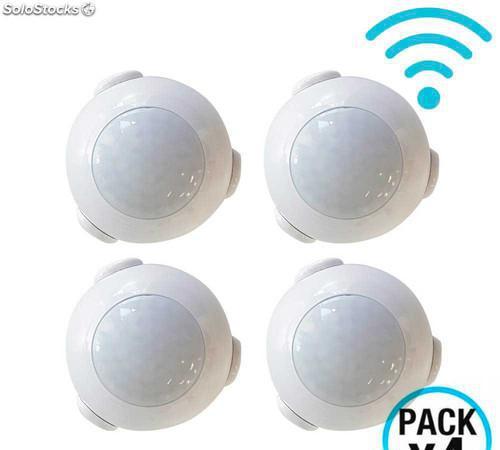Pack 4 Sensores de Movimiento WiFi con Aviso vía