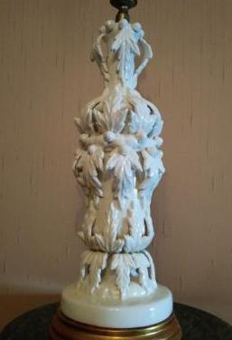 Pie lámpara cerámica manises