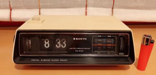 Radio reloj despertador sanyo rm 5021, funciona