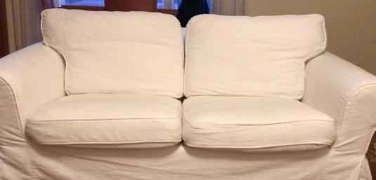 Sofá dos plazas blanco