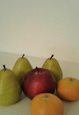 Frutas decorativas de plastico