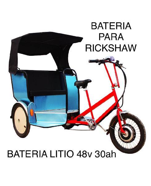 Bateria litio para rickshaw 48v 30ah