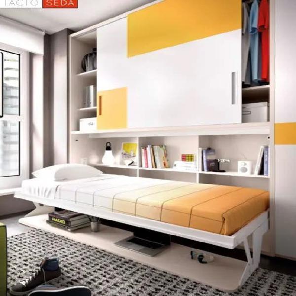 Cama abatible con escritorio y armario rmb