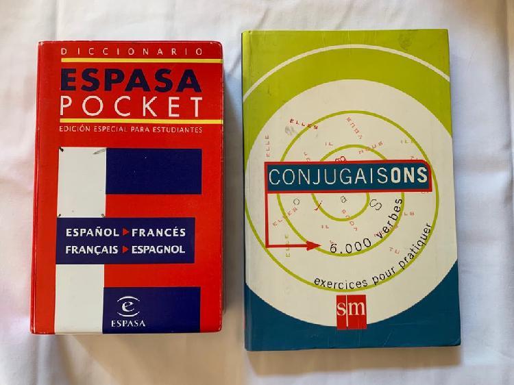 Diccionario francés y libro verbos
