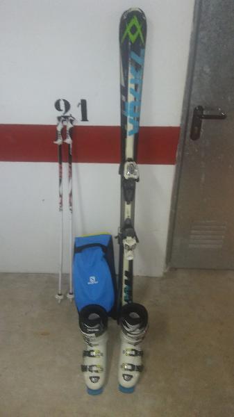 Equipo completo de esqui
