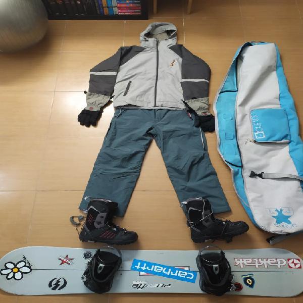 Equipo de completo snowboard+regalo