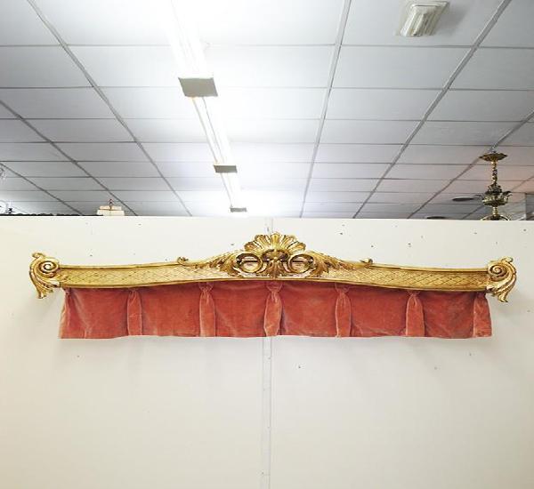 Galería antigua para cortinas luis xv y pan de oro