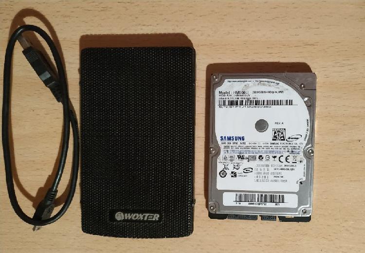 Hdd sata 2.5 500gb + caja externa