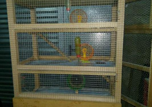 Jaula hamster 3 plantas artesanal
