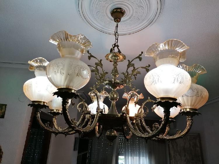 Lámpara de techo de ocho brazos