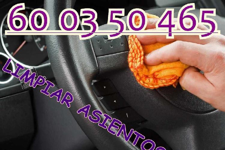 Limpieza asientos cuero lavado interior y