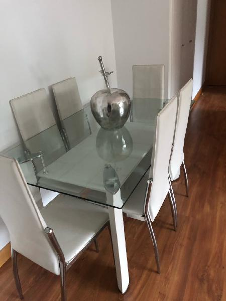 Mesa comedor cristal