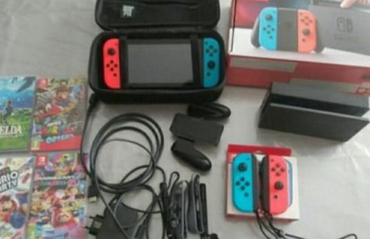 Nintendo switch trae cuatro juegos