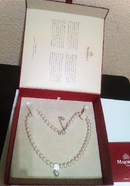 Nuevo collar perlas majórica