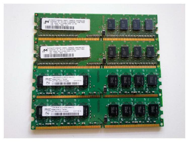 Pack 4uds memorias ram 1gb