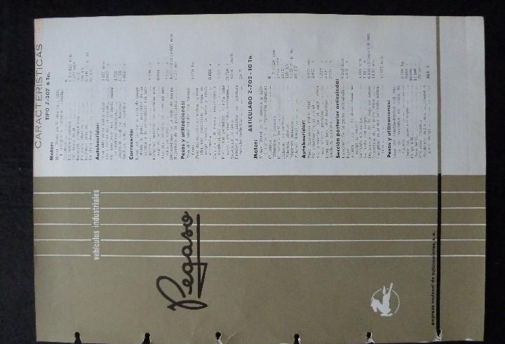 Pegaso-catalogo/folleto original caracteristicas vehiculos