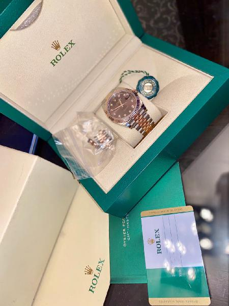 Rolex datejust ll 41 mm oro rosa diamond