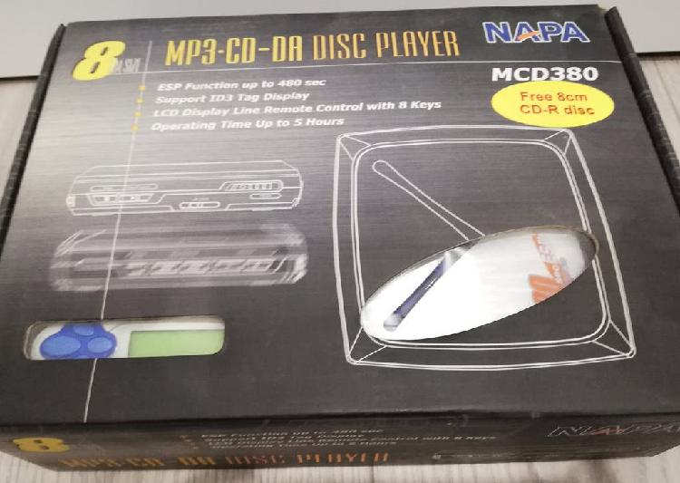 Reproductor mp3 cd-8cm napa + lote cdr