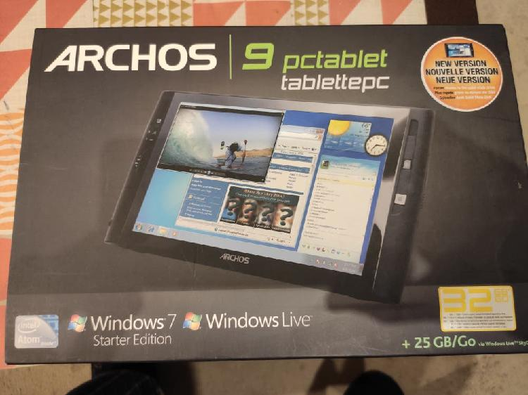 Tablet pc archos 9 windows 7
